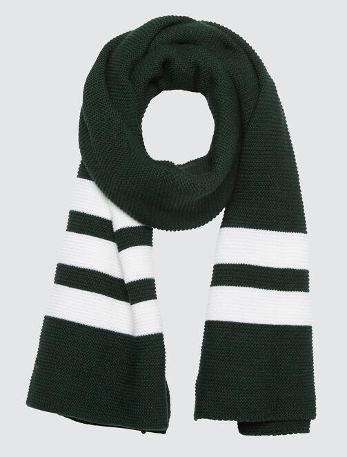 Echarpe tricot bandes sport homme