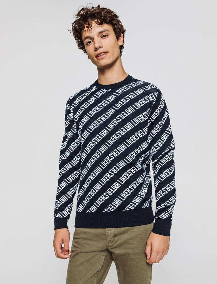 Pull col rond jacquard Likers