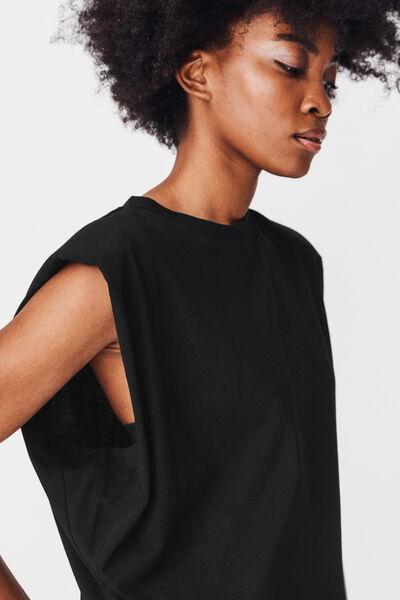 T-shirt épaulette en coton bio