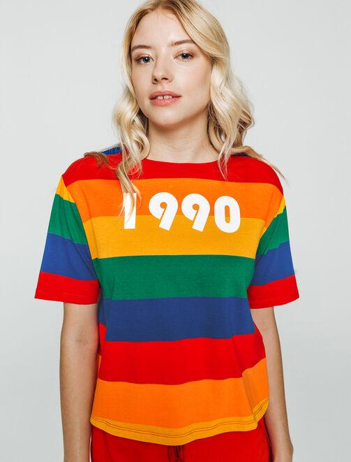 T-shirt rayures 1990 femme
