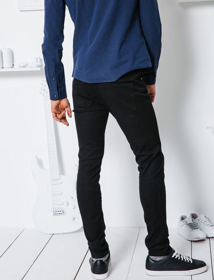 jean ultra skinny noir homme noir bizzbee. Black Bedroom Furniture Sets. Home Design Ideas