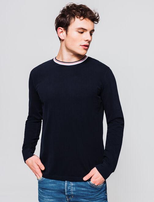 T-shirt uni manches longues homme