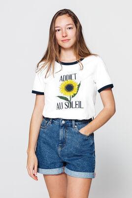 T-shirt imprimé tournesol en coton IAB