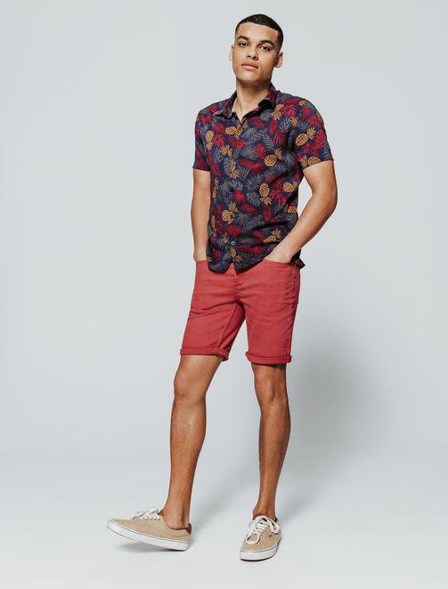 Bermuda 5 poches coloré homme