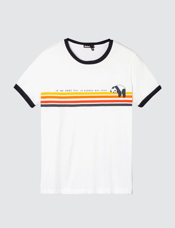 """T-shirt Panda message """"Je ne dors pas"""""""