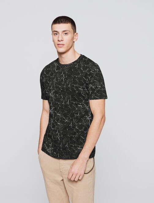 T-shirt marble fonce homme