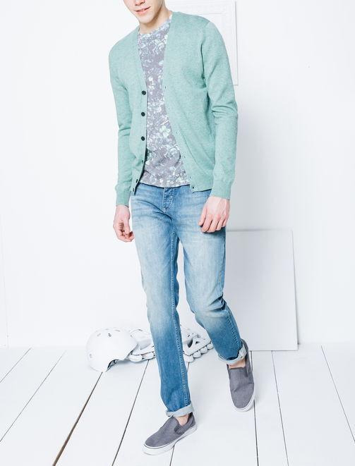 Cardigan basique en 100% coton homme