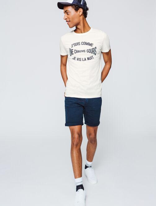 """T-shirt message """"suis comme une chauve souris"""" homme"""