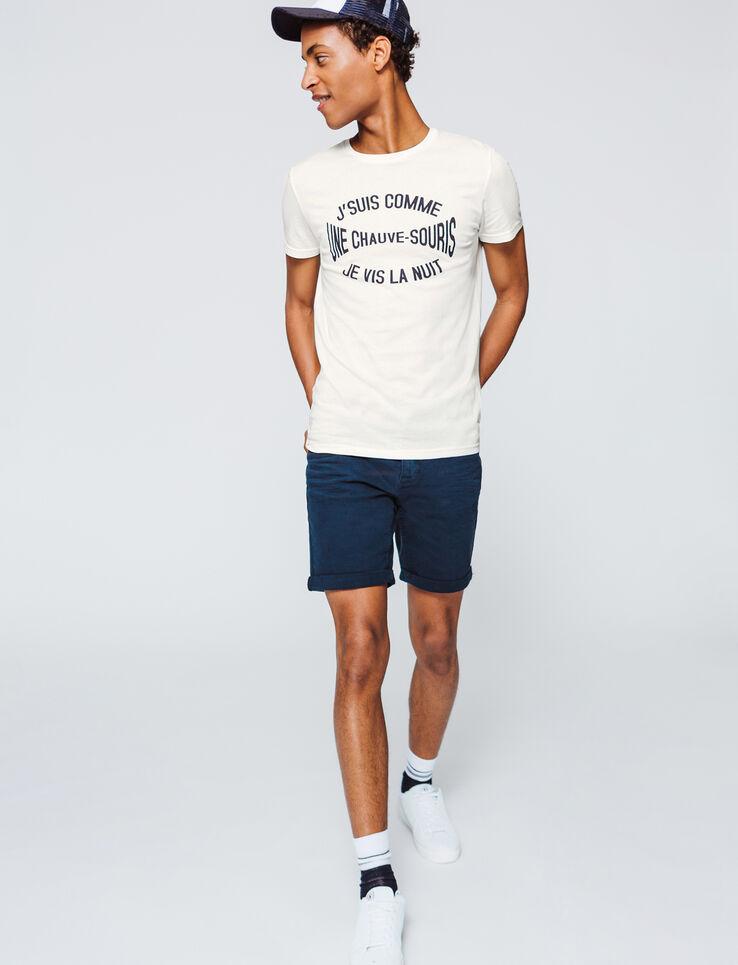 """T-shirt message """"suis comme une chauve souris"""""""