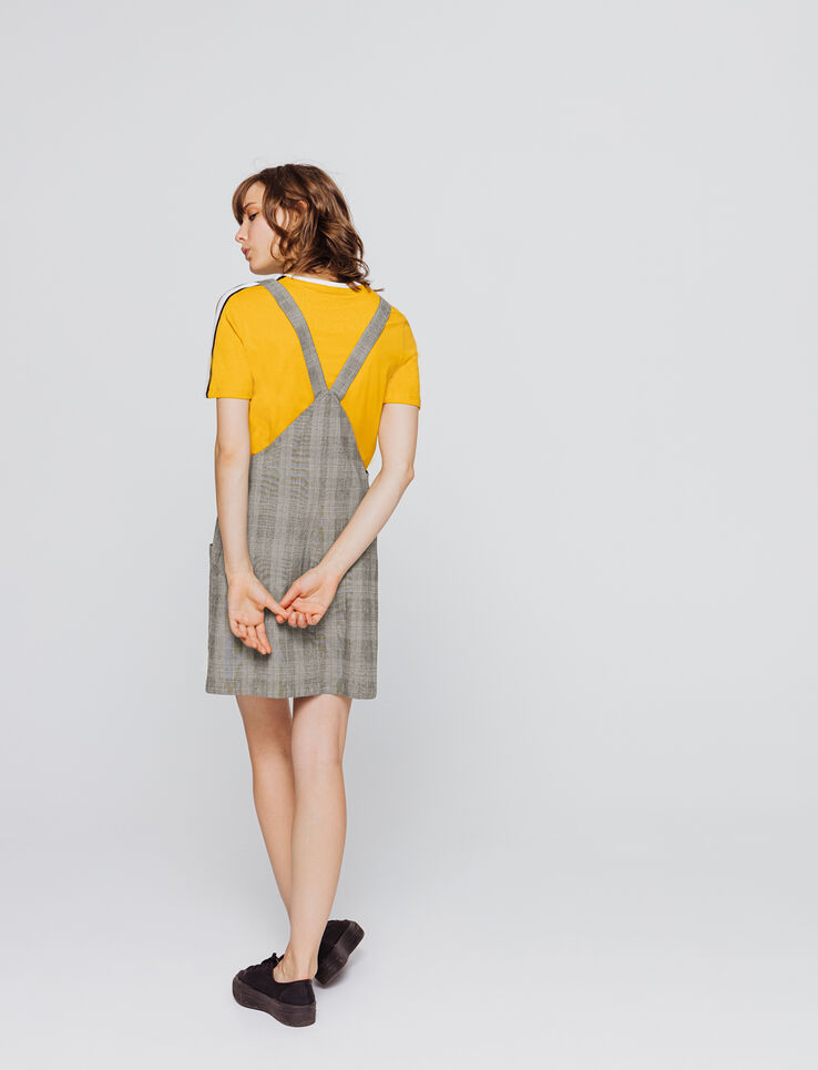 Robe salopette à carreaux