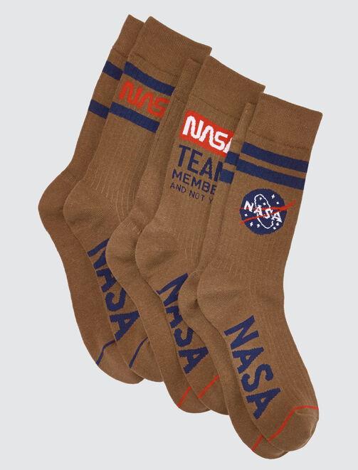 Lot de trois chaussettes hautes Nasa® homme