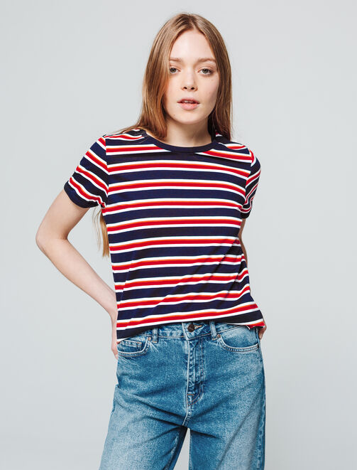 T-shirt rayures femme