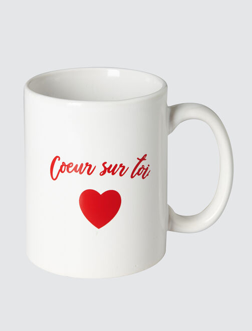 Mug Blanc Message Saint Valentin tendances