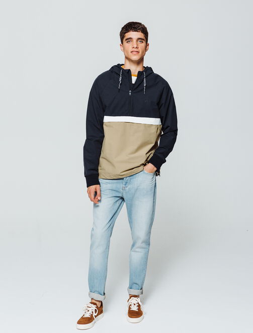 Blouson à enfiler color block homme