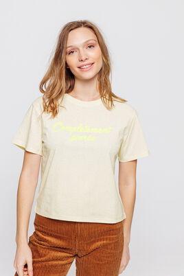 T-shirt à message fluo
