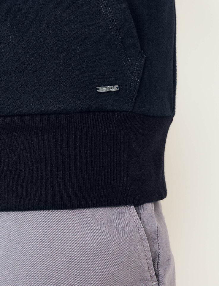 Sweat basique zippé