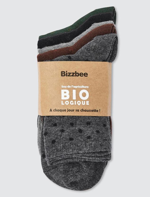 Lot de 5 chaussettes fantaisies pois lurex