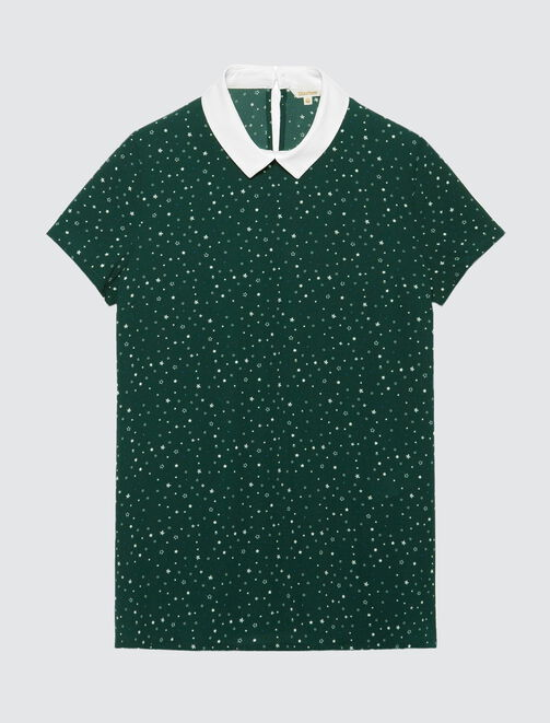 Top col polo femme