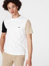 T-shirt manches bicolores