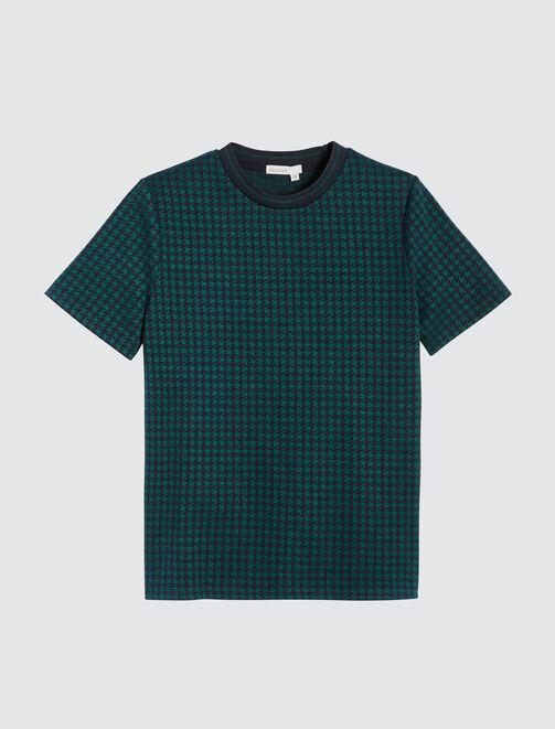 T-shirt pied de poule femme