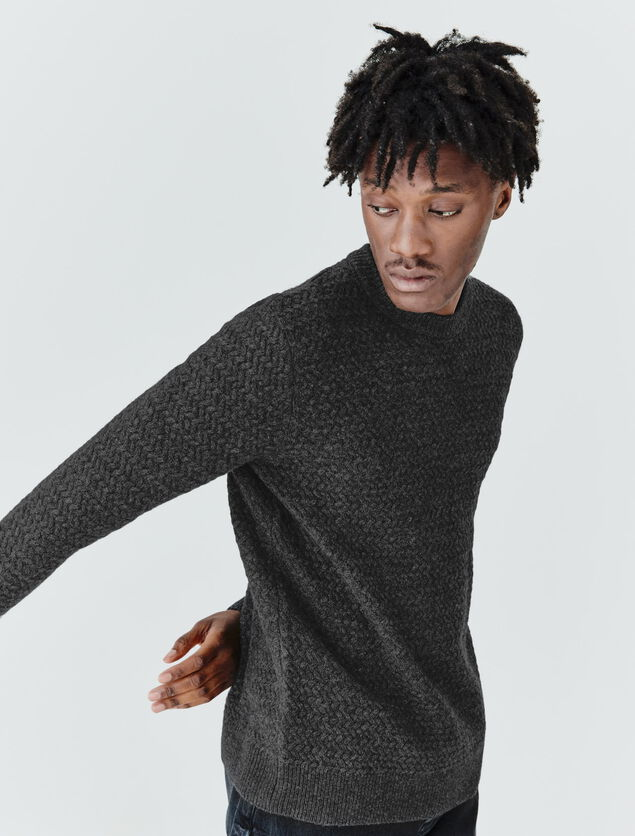 Pull tricotage chevron en laine