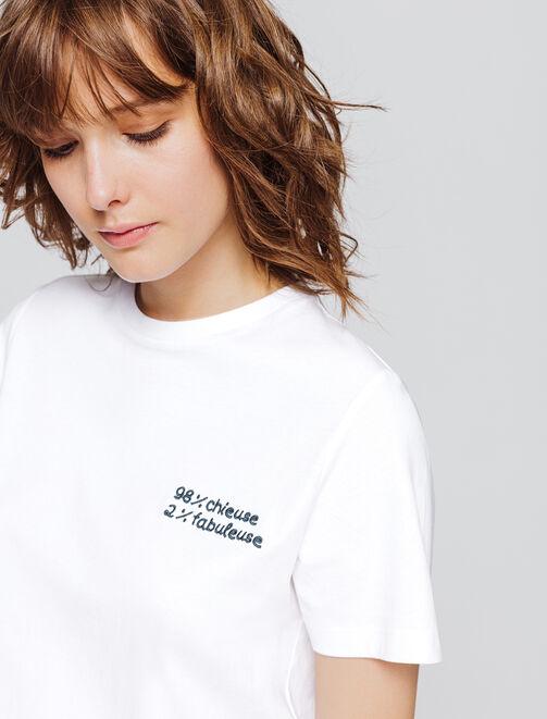 """T-shirt à message """"Melle cœur"""" en coton biologique femme"""