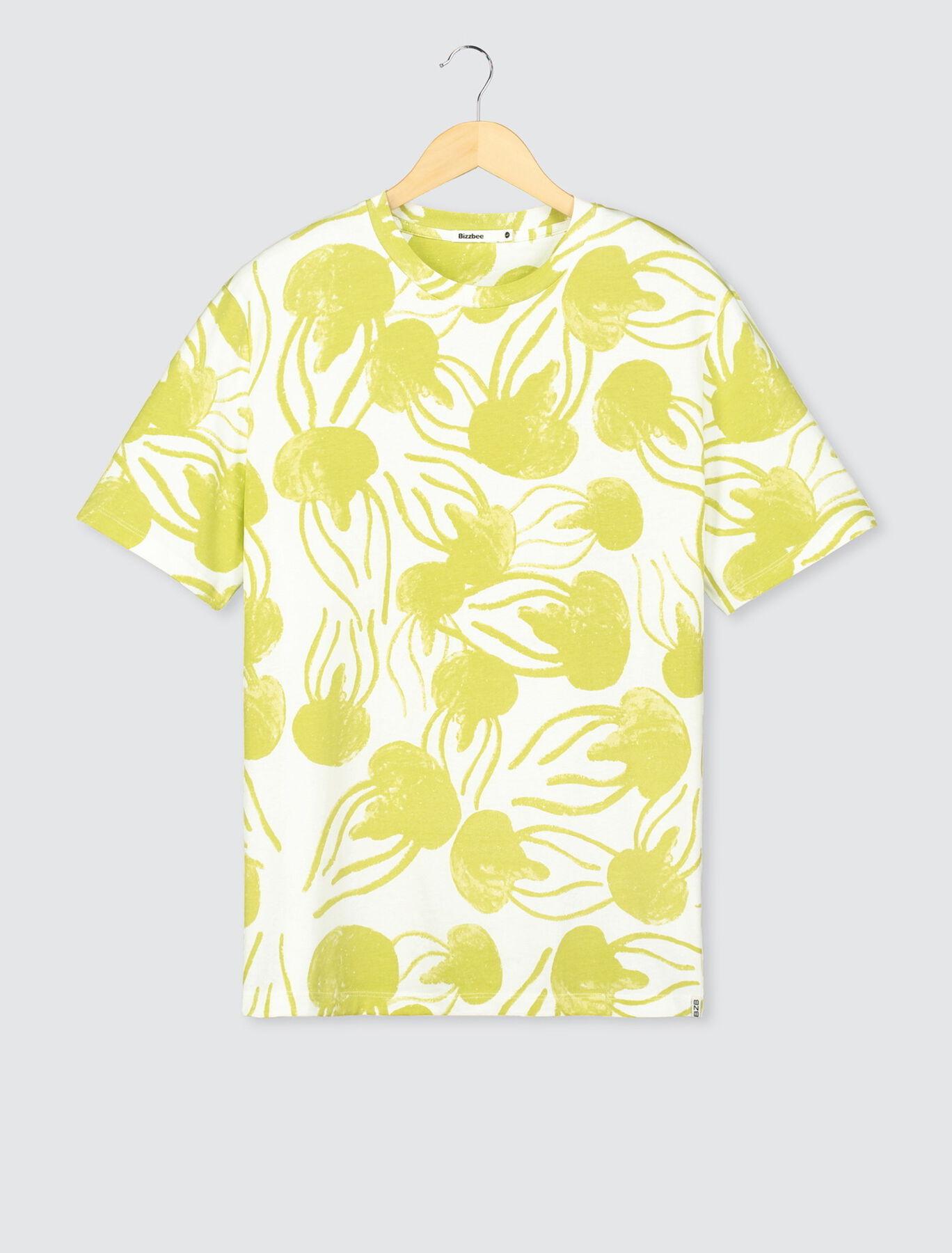 T-shirt imprimé méduse maxi en coton BIO