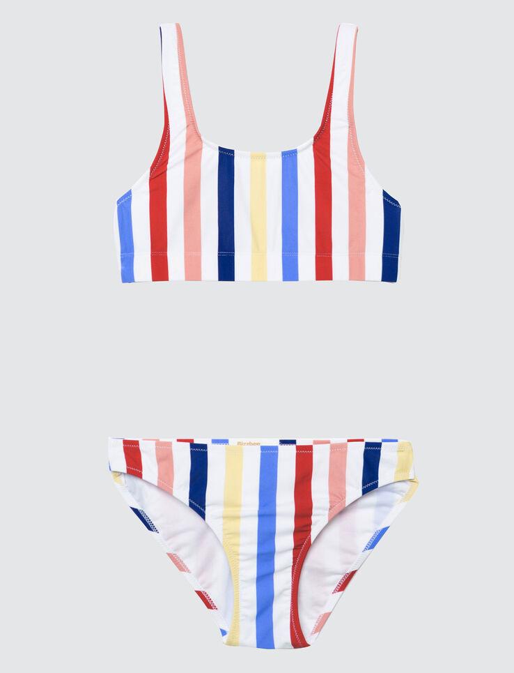 Culotte maillot de bain à Rayures