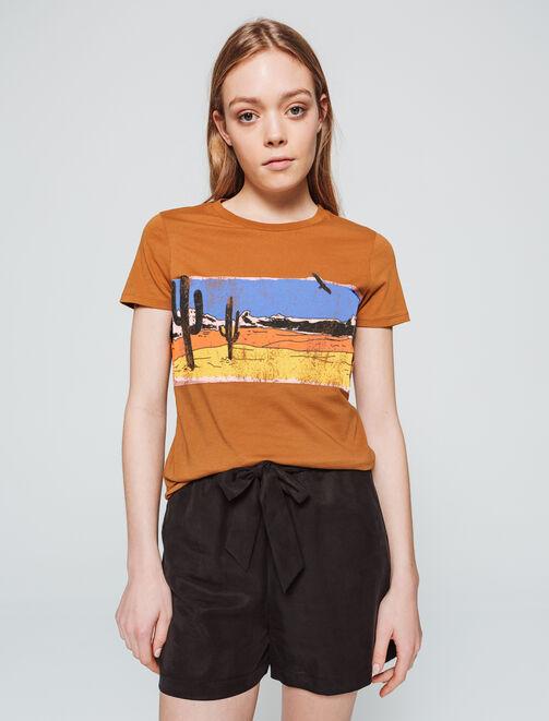 T-shirt western femme