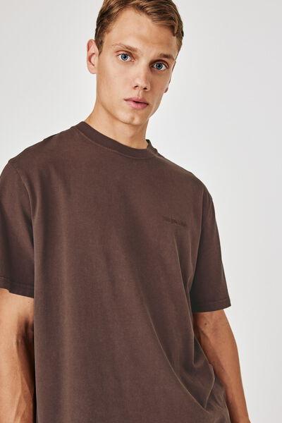 T-shirt délavé brodé