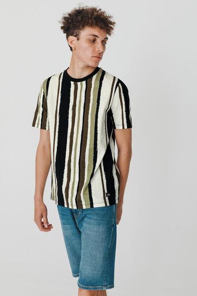 T-shirt rayures verticales