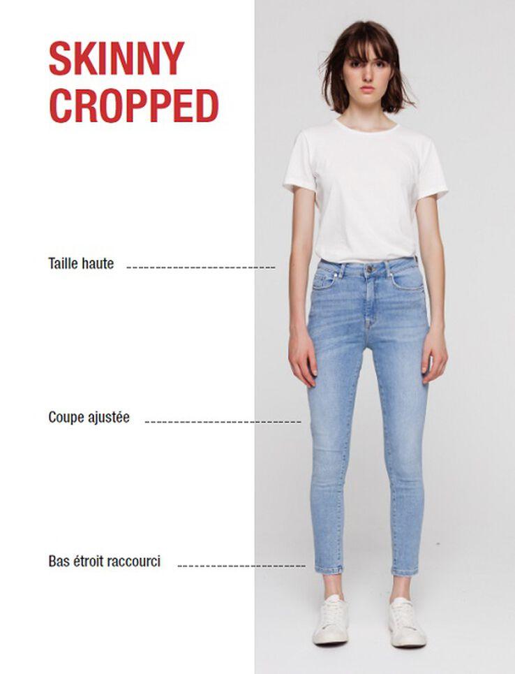 Jean denim skinny cropped
