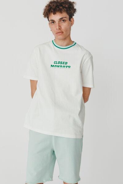 T-shirt encolure rayée en coton BIO