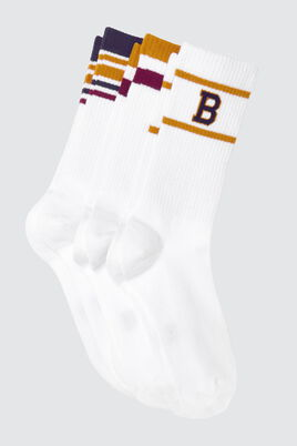Lot*3 Chaussettes Campus Rayures