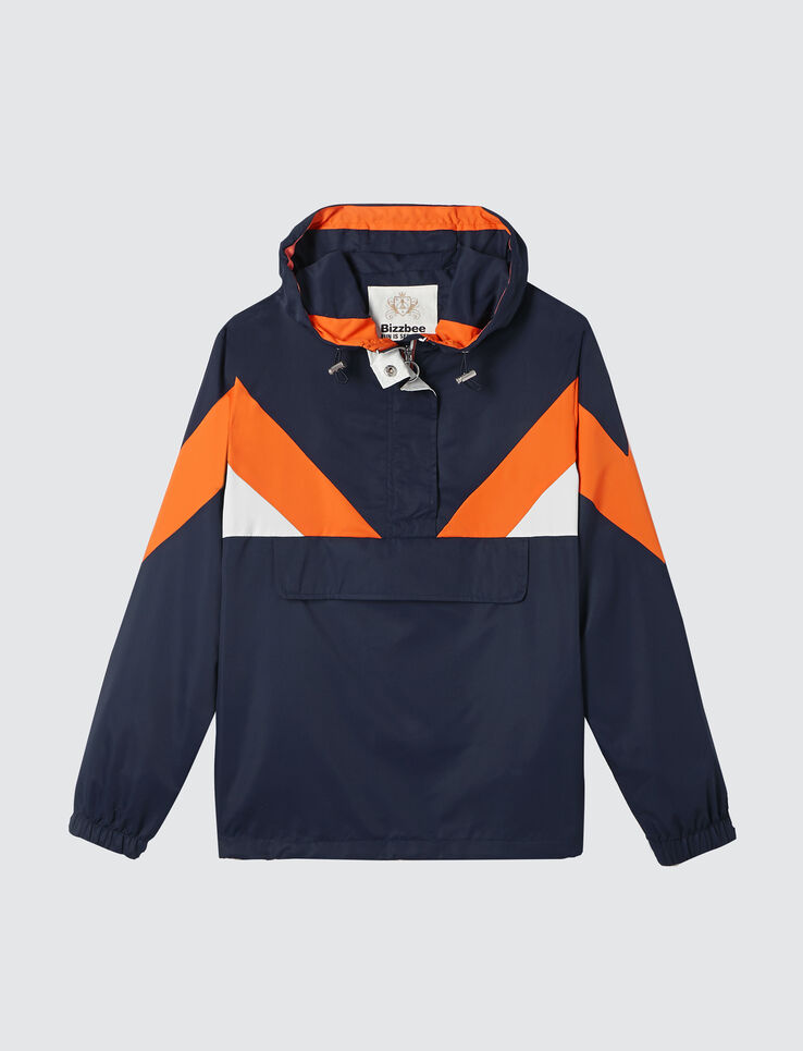 Blouson capuche color block