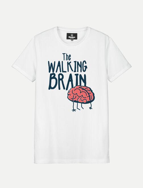 T-shirt Halloween THE WALKING BRAIN homme