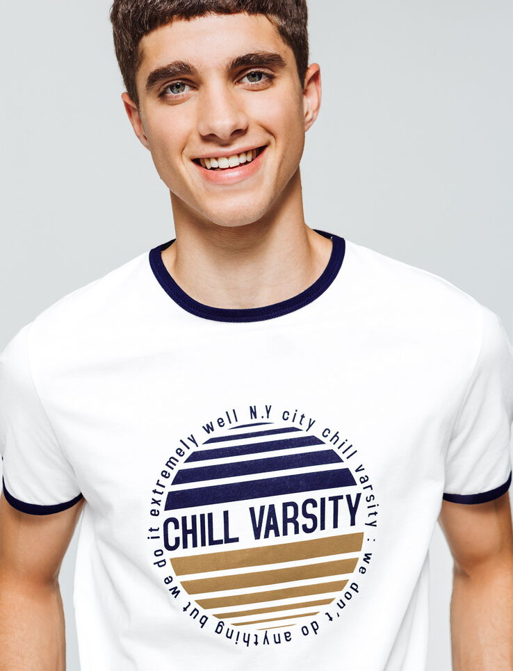 "T-shirt print ""Chill Varsity"""