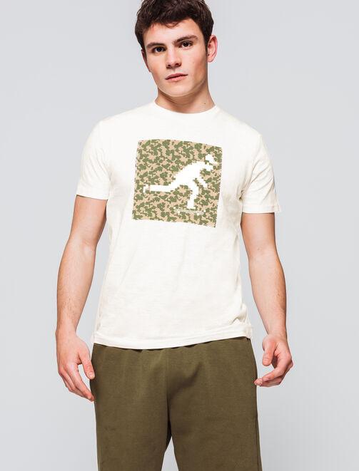 T-shirt logo print encadré homme