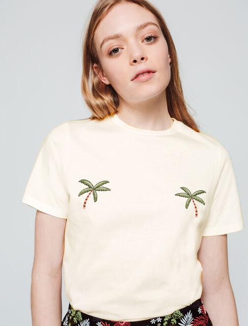 T-shirt palmiers femme