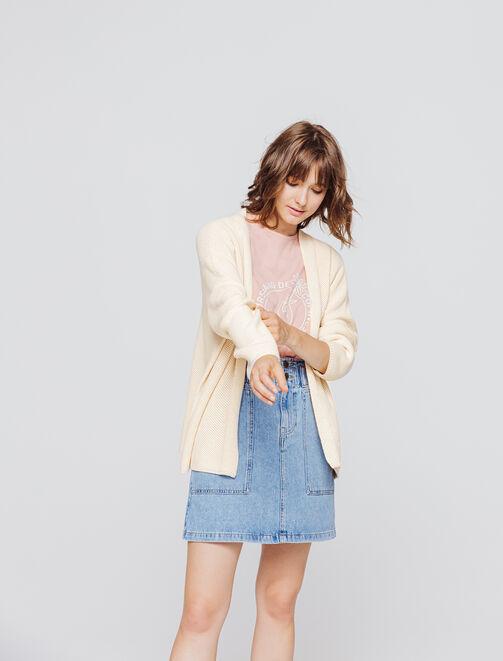 Gilet kimono femme