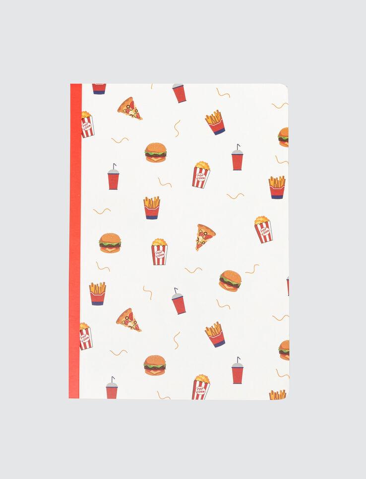 Cahier Imprimé All Over Food