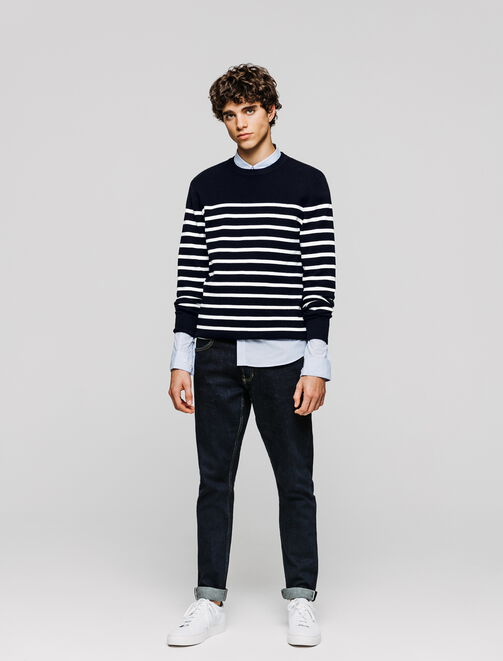 Pull marinière homme