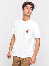 T-shirt patch poitrine coton bio