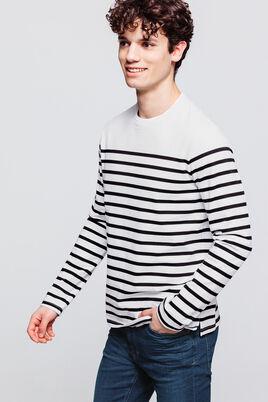 T-shirt à manches longues marinière