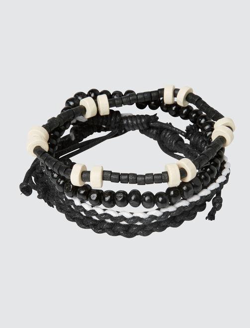 Set de Bracelets Noir homme
