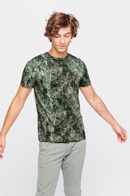 T-shirt avec imprimé feuillage