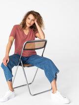 T-shirt col V essentiel en coton bio