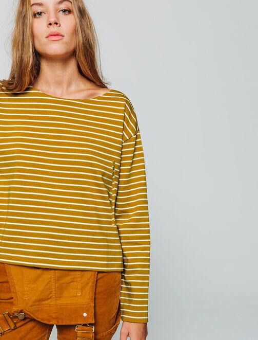 T-shirt marinière manches longues femme