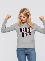Pull col rond fantaisie