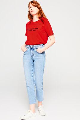 T-shirt rouge en coton IAB